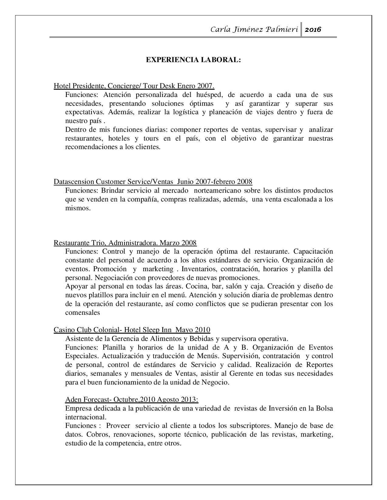 Carla Jimenez CV- Posted Nov 30