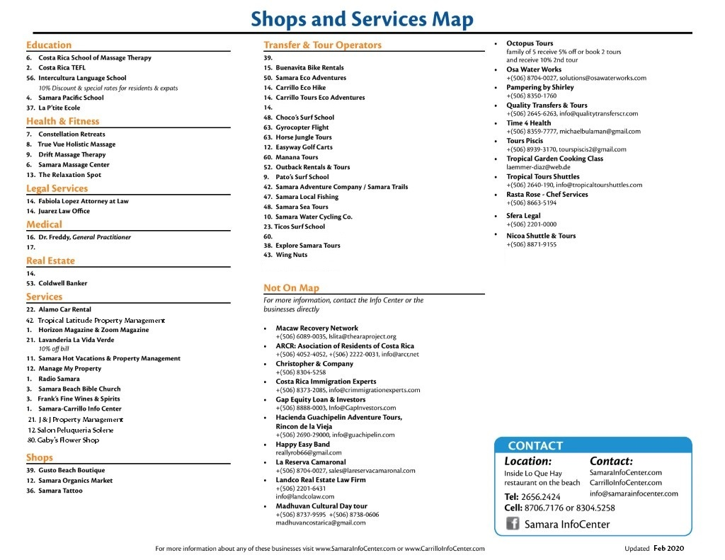 map shops 2 feb 2020